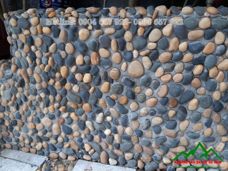 sỏi tự nhiên trang trí tường