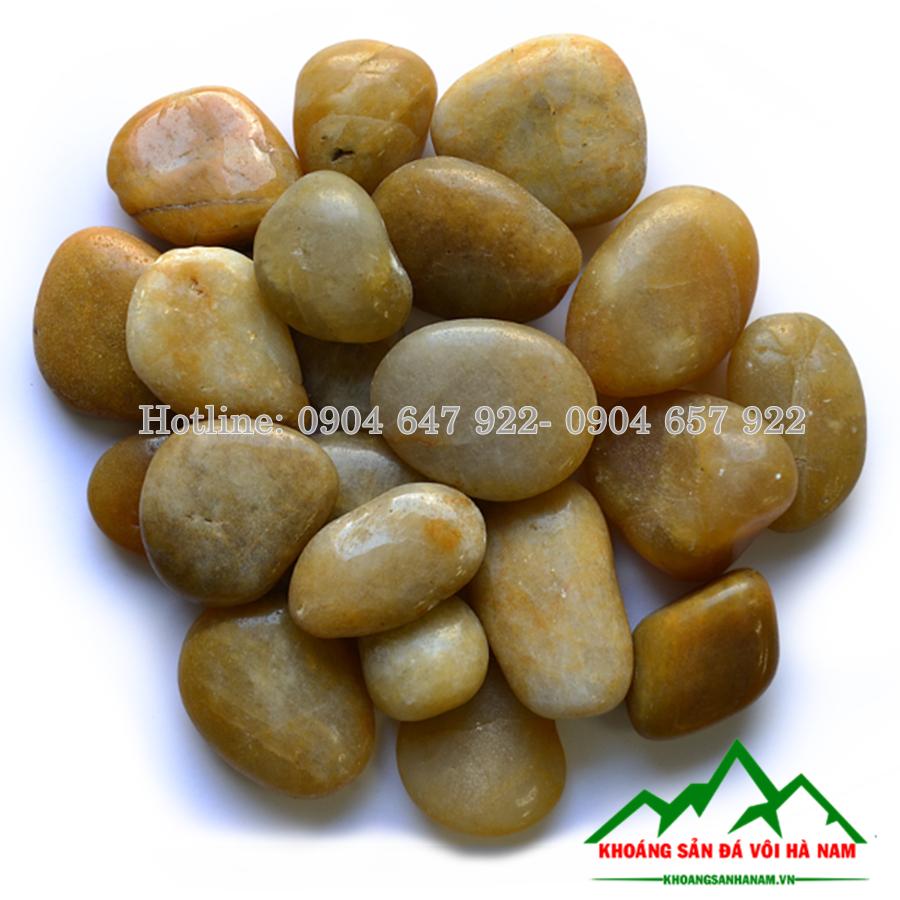sỏi đá vàng trang trí