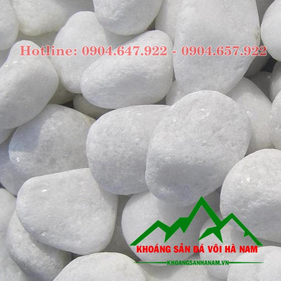 sỏi đá trắng trang trí
