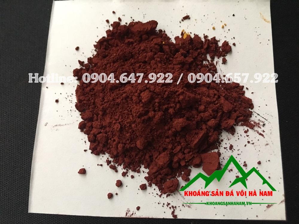 bột màu oxit sắt nâu đỏ