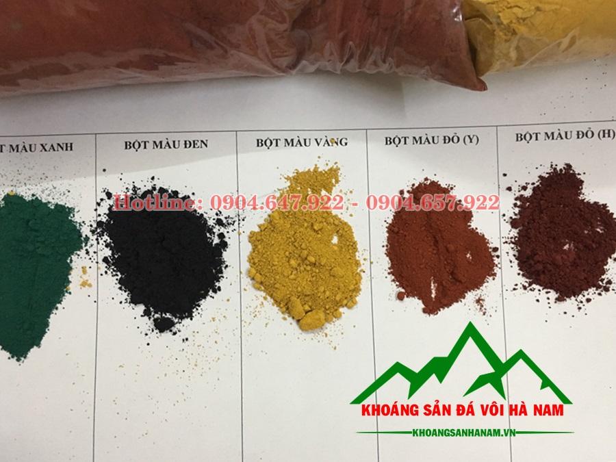 bán bột màu oxit săt sản xuất gạch