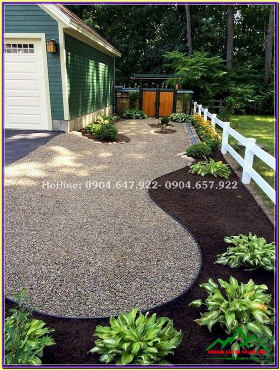 thiết kế sỏi rải sân vườn