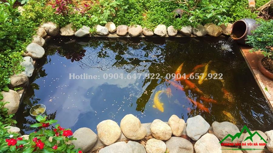 sỏi cuội tự nhiên trang trí bể cá