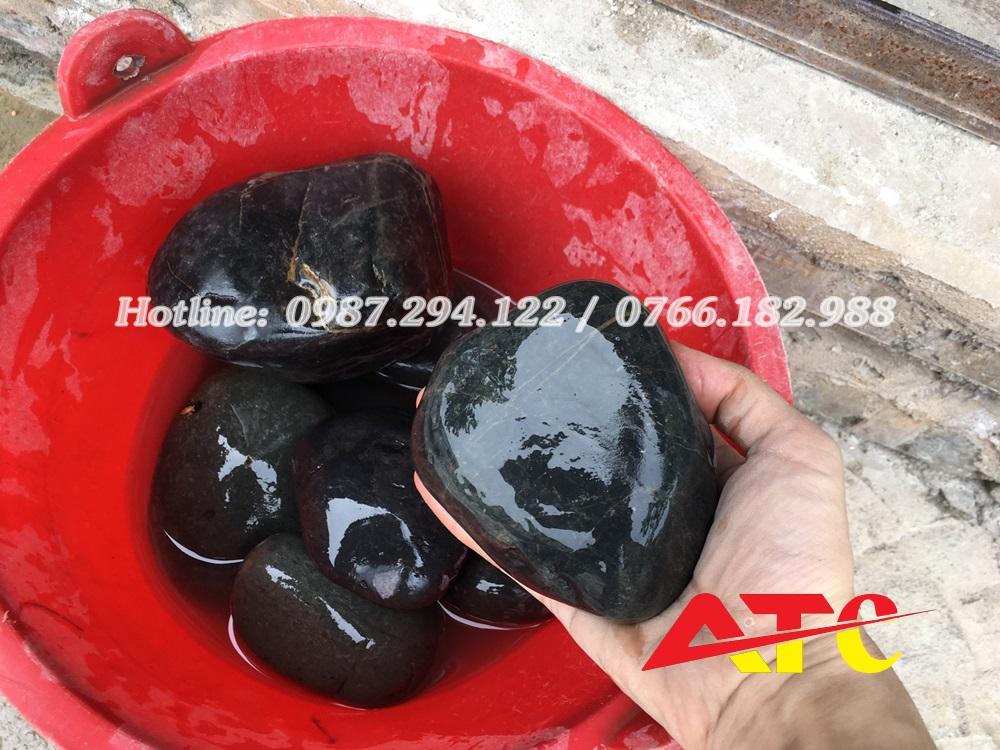đá cuội đen tự nhiên
