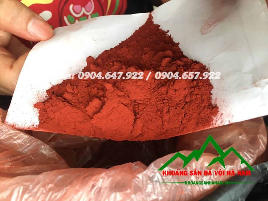 Báo giá bột màu oxit sắt fe203 màu đỏ