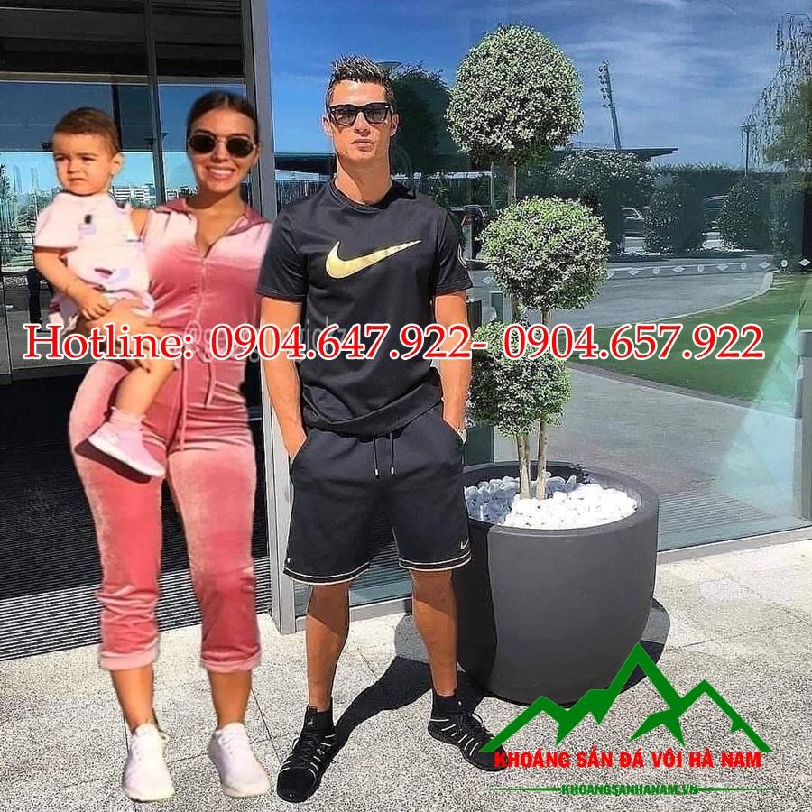 Ronaldo sử dụng sỏi trắng tại khoáng sản đá vôi hà nam