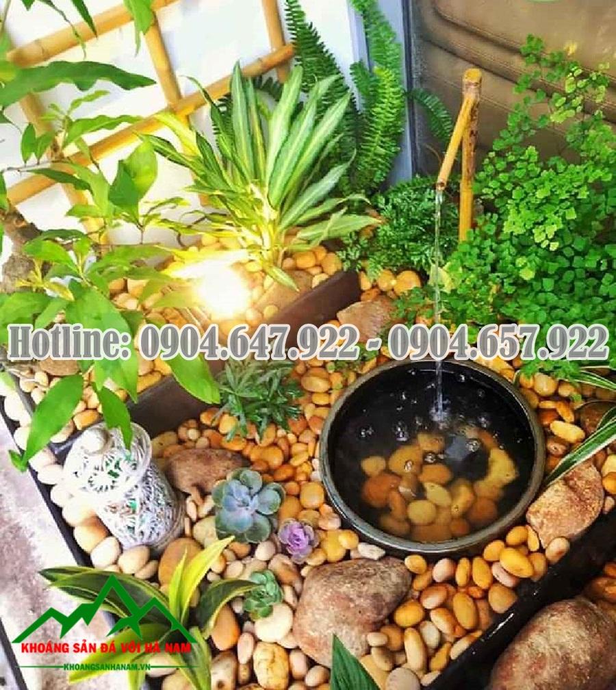 bán sỏi suối rải sân vườn