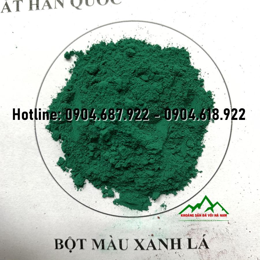 bột màu oxit sắt xanh lá