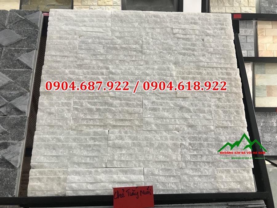 đá chẻ trắng ốp tường