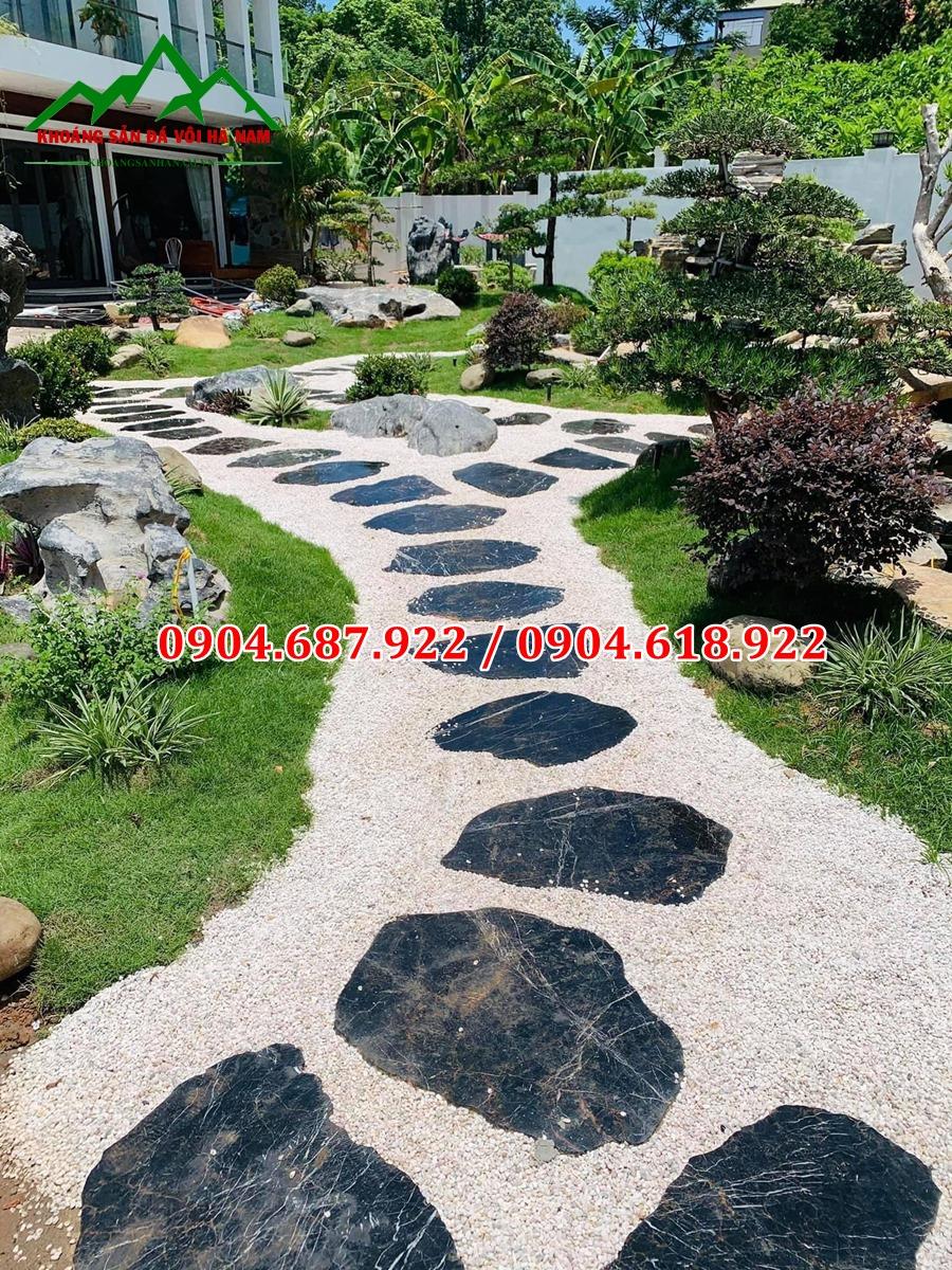 sỏi trang trí sân vườn