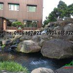 đá cuội tạo thác nước